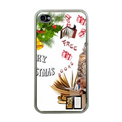 Free books for Christmas Apple iPhone 4 Case (Clear)