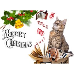 Free books for Christmas Birthday Cake 3D Greeting Card (7x5)