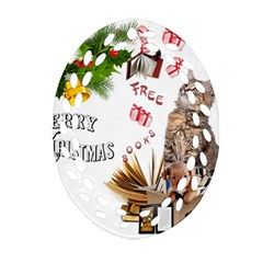 Free books for Christmas Oval Filigree Ornament (2-Side)
