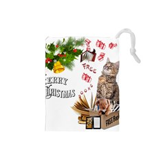 Free books for Christmas Drawstring Pouches (Small)