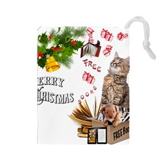 Free books for Christmas Drawstring Pouches (Large)