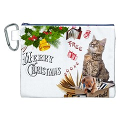 Free books for Christmas Canvas Cosmetic Bag (XXL)