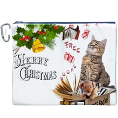 Free books for Christmas Canvas Cosmetic Bag (XXXL)