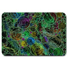 Lovely Allover Bubble Shapes Green Large Doormat