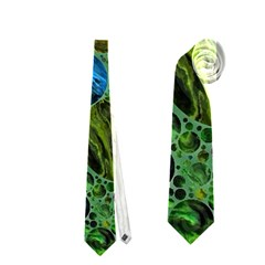 Lovely Allover Bubble Shapes Green Neckties (one Side)