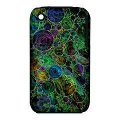 Lovely Allover Bubble Shapes Green Apple iPhone 3G/3GS Hardshell Case (PC+Silicone)