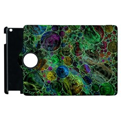 Lovely Allover Bubble Shapes Green Apple iPad 2 Flip 360 Case