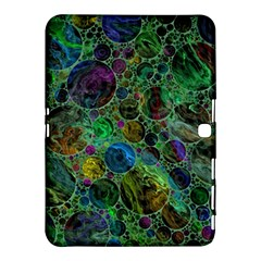 Lovely Allover Bubble Shapes Green Samsung Galaxy Tab 4 (10 1 ) Hardshell Case