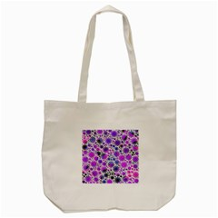 Lovely Allover Flower Shapes Pink Tote Bag (cream)
