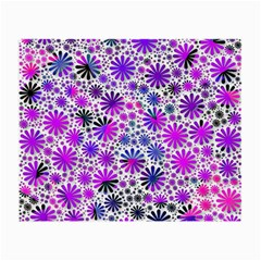 Lovely Allover Flower Shapes Pink Small Glasses Cloth