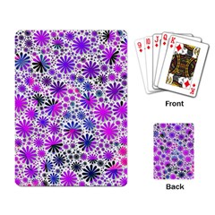 Lovely Allover Flower Shapes Pink Playing Card