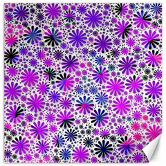 Lovely Allover Flower Shapes Pink Canvas 12  X 12