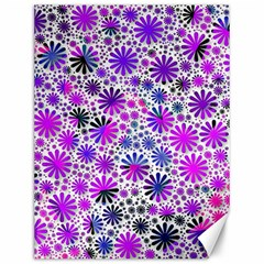 Lovely Allover Flower Shapes Pink Canvas 12  x 16
