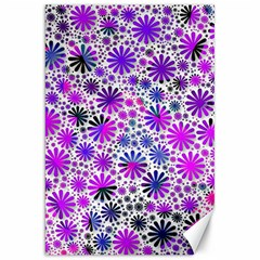 Lovely Allover Flower Shapes Pink Canvas 20  x 30