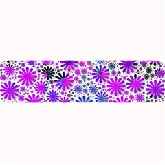 Lovely Allover Flower Shapes Pink Large Bar Mats