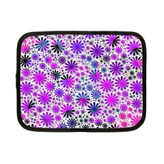 Lovely Allover Flower Shapes Pink Netbook Case (Small)
