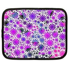 Lovely Allover Flower Shapes Pink Netbook Case (Large)