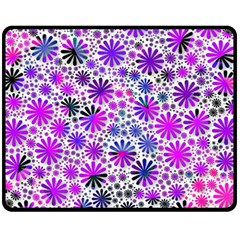 Lovely Allover Flower Shapes Pink Fleece Blanket (Medium)