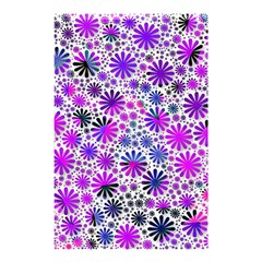 Lovely Allover Flower Shapes Pink Shower Curtain 48  x 72  (Small)