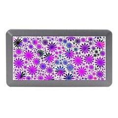 Lovely Allover Flower Shapes Pink Memory Card Reader (Mini)