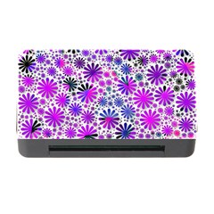 Lovely Allover Flower Shapes Pink Memory Card Reader with CF