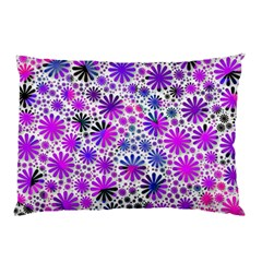 Lovely Allover Flower Shapes Pink Pillow Cases (Two Sides)