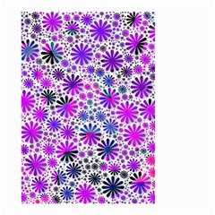 Lovely Allover Flower Shapes Pink Small Garden Flag (two Sides)