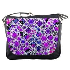 Lovely Allover Flower Shapes Pink Messenger Bags