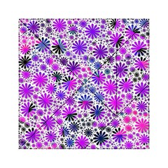 Lovely Allover Flower Shapes Pink Acrylic Tangram Puzzle (6  x 6 )
