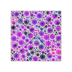 Lovely Allover Flower Shapes Pink Acrylic Tangram Puzzle (4  x 4 )