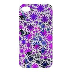 Lovely Allover Flower Shapes Pink Apple iPhone 4/4S Premium Hardshell Case
