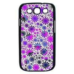 Lovely Allover Flower Shapes Pink Samsung Galaxy S III Case (Black)