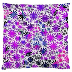 Lovely Allover Flower Shapes Pink Large Cushion Cases (Two Sides)