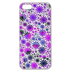 Lovely Allover Flower Shapes Pink Apple Seamless iPhone 5 Case (Clear)