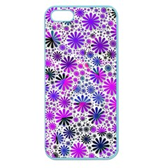 Lovely Allover Flower Shapes Pink Apple Seamless iPhone 5 Case (Color)