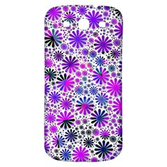Lovely Allover Flower Shapes Pink Samsung Galaxy S3 S III Classic Hardshell Back Case