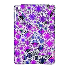 Lovely Allover Flower Shapes Pink Apple iPad Mini Hardshell Case (Compatible with Smart Cover)