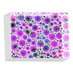 Lovely Allover Flower Shapes Pink 5 x 7  Acrylic Photo Blocks