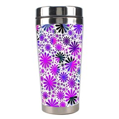 Lovely Allover Flower Shapes Pink Stainless Steel Travel Tumblers