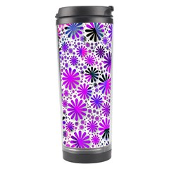 Lovely Allover Flower Shapes Pink Travel Tumblers