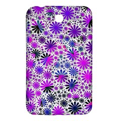 Lovely Allover Flower Shapes Pink Samsung Galaxy Tab 3 (7 ) P3200 Hardshell Case