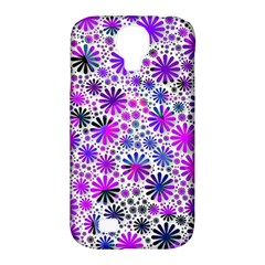 Lovely Allover Flower Shapes Pink Samsung Galaxy S4 Classic Hardshell Case (PC+Silicone)