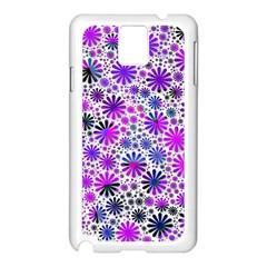 Lovely Allover Flower Shapes Pink Samsung Galaxy Note 3 N9005 Case (White)