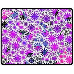 Lovely Allover Flower Shapes Pink Double Sided Fleece Blanket (Medium)