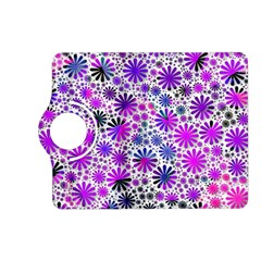 Lovely Allover Flower Shapes Pink Kindle Fire Hd (2013) Flip 360 Case