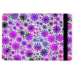 Lovely Allover Flower Shapes Pink Ipad Air Flip