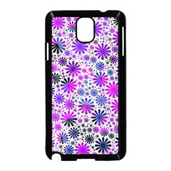 Lovely Allover Flower Shapes Pink Samsung Galaxy Note 3 Neo Hardshell Case (Black)
