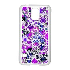 Lovely Allover Flower Shapes Pink Samsung Galaxy S5 Case (White)
