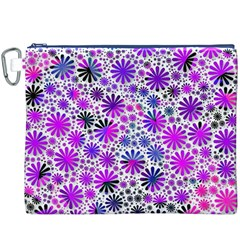 Lovely Allover Flower Shapes Pink Canvas Cosmetic Bag (XXXL)