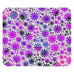 Lovely Allover Flower Shapes Pink Double Sided Flano Blanket (Small)